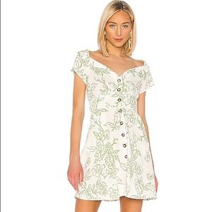 Free People A Thing Called Love Linen Mini Dress